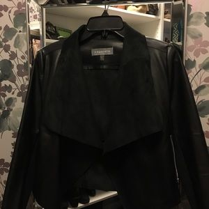 Girl's contemporary faux leather jacket.